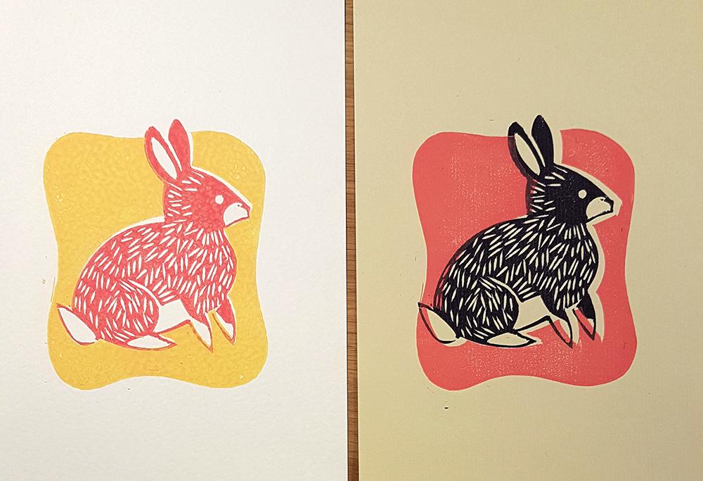 lino-bunny pair