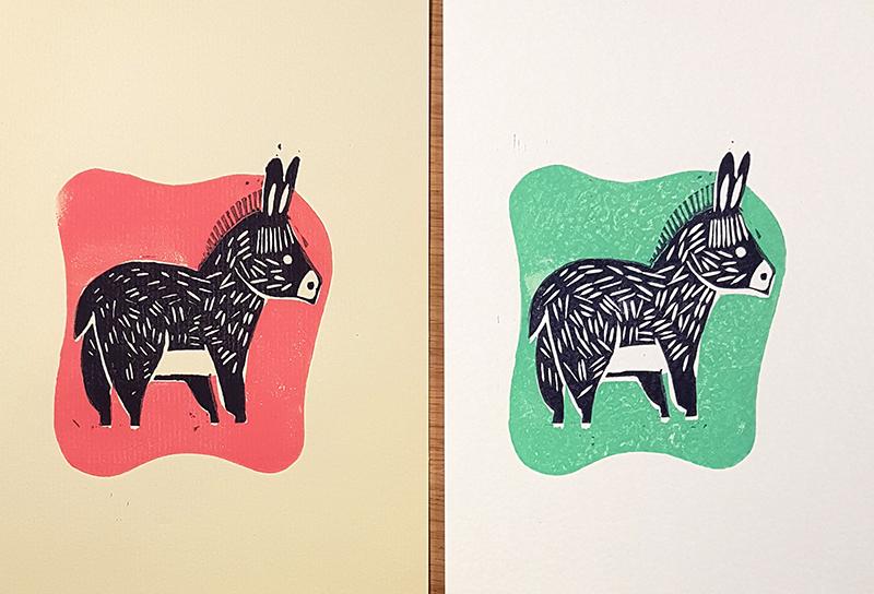 lino-donkey pair