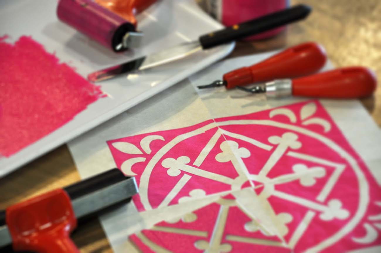 Linocut Printing Workshop | Basic Level | Artefakts | Singapore