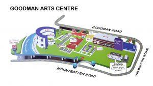 Goodman Arts Centre Map